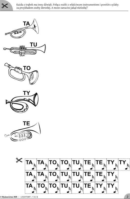 Logotomy Z Głoskami T D N ćwiczenia Logopedyczne Wydawnictwo Wir