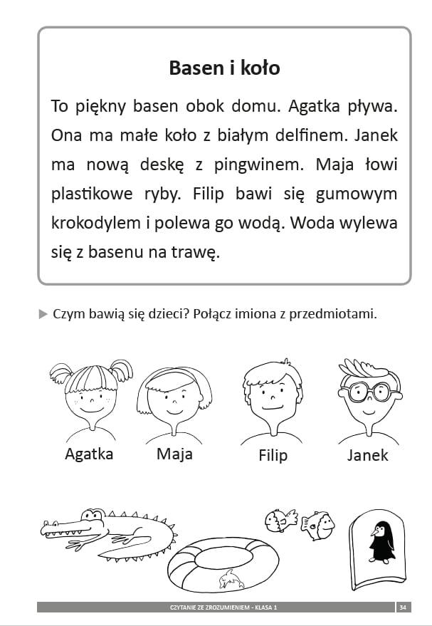 Czytanie ze zrozumieniem - Ćwiczenia dla klasy 1 Wydawnictwo WiR ...